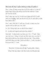 Bài toán đố lớp 5 ngắn phần 1