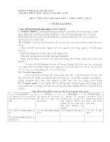 Văn 6 đề cương thi học kì 1