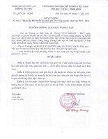 Quyết định thành lập đổi thuyển HSG lớp 9 cấp huyện