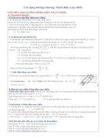 Chuyên đề: Điện xoay chiều ôn thi ĐH