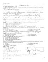 Đề thi thử và câu hỏi trắc nghiệm ôn tập học kỳ 1
