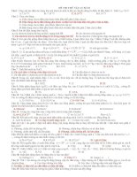 Đề kiểm tra vật lý 11 cực hay có đáp án
