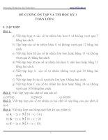 ĐỀ CƯƠNG ÔN TẬP VÀ THI HỌC KỲ 1  TOÁN LỚP 6