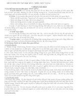 Đề cương ôn tập Ngữ Văn 6 học kì I