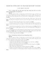 bộ đề thi công chức tư pháp - hộ tịch giỏi ( có đáp án và biểu điểm)