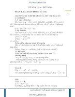 bài toán viết phương trình tiếp tuyến và bài toán tương giao có chứa tham số