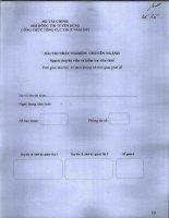 công chức 2012 đề thi môn nghiệp vụ trắc nghiệm (40 câu- 45 phút )