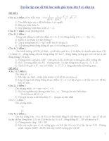 Tuyển tập các đề thi học sinh giỏi toán lớp 9 có đáp án