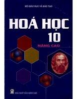 sách giáo khoa hoá 10 nâng cao