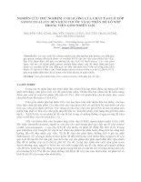 NGHIÊN CỨU THỬ NGHIỆM ẢNH HƯỞNG CỦA CHẤT TẠO LỖ XỐP AMONI OXALATE ĐẾN KÍCH THƯỚC VÀ SỰ PHÂN BỐ LỖ XỐP TRONG VIÊN GỐM NHIÊN LIỆU