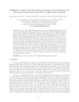 NGHIÊN CỨU HIỆU ỨNG KÍCH KHÁNG BỆNH CỦA CHITOSAN CẮT MẠCH BẰNG PHƯƠNG PHÁP BỨC XẠ ĐỐI VỚI CÁ RÔ PHI