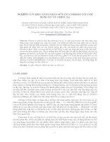 NGHIÊN CỨU KHẢ NĂNG PHÂN HỦY CỦA FIBROIN TƠ TẰM  BẰNG XỬ LÝ CHIẾU XẠ