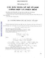 Chuyên đề tổ hợp, chỉnh hợp và phép đếm luyện thi đại học môn toán