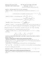80 đề thi thử đại học môn toán có đáp án (tải trọn bộ 80 đề và đáp án trong file đính kèm)