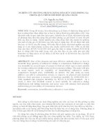 NGHIÊN CỨU PHƯƠNG PHÁP XI MĂNG HÓA BÙN THẢI PHÓNG XẠ  TRONG QUÁ TRÌNH CHẾ BIẾN QUẶNG URANI
