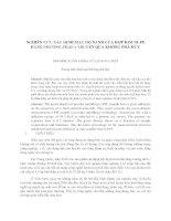 NGHIÊN CỨU XÁC ĐỊNH MẬT ĐỘ XANH CỦA HỢP KIM NIFE BẰNG PHƯƠNG PHÁP γ TRUYỀN QUA KHÔNG PHÁ HỦY