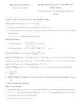 30 đề thi thử đại học môn toán có đáp án (tải trọn bộ 30 đề và đáp án trong file đính kèm)