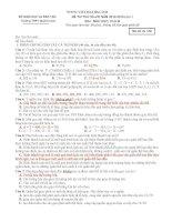 Tuyển tập các đề thi thử đại học môn sinh học có đáp án (tải trọn bộ trong file đính kèm)
