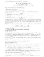đề thi thử môn toán năm 2012 của đại học vinh