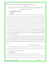 ĐỀ TÀI PHƯƠNG PHÁP CHIA NHÓM TRONG TẬP LUYỆN VÀ KIỂM TRA  BÀI THỂ DỤC LỚP 8