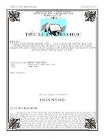 """ĐỀ TÀI: """"XÂY DỰNG PHƯƠNG PHÁP GIẢI – LỰA CHỌN HỆ THỐNG BÀI TẬP – HƯỚNG DẪN GIẢI BÀI TẬP VỀ MẮT VÀ CÁCH SỬA TẬT CỦA MẮT NHẰM ÔN TẬP CỦNG CỐ VÀ NÂNG CAO KIẾN THỨC VỀ MẮT Ở LỚP 9 PHỔ THÔNG TRUNG HỌC CƠ SỞ""""."""