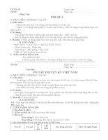 Giáo án Ngữ văn 8 Tuần 10 2014 2015 tích hợp đầy đủ