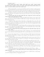 THAM LUẬN:  GIẢI PHÁP ĐỂ THỰC HIỆN ĐỔI MỚI DẠY HỌC THEO ĐỊNH HƯỚNG PHÁT TRIỂN NĂNG LỰC HỌC SINH GÓP PHẦN ĐỔI MỚI CĂN BẢN VÀ TOÀN DIỆN GIÁO DỤC ĐÀO TẠO