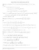 Một số bài toán khó trong đề thi đại học