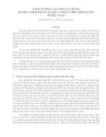 TĂNG CƯỜNG VAI TRÒ CỦA RỪNG  HƯỚNG TỚI KINH TẾ XANH VÀ PHÁT TRIỂN BỀN VỮNG  Ở VIỆT NAM