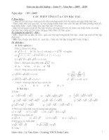 giáo án dạy thêm toán lớp 9