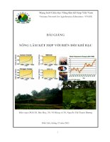 Bài giảng nông lâm kết hợp với biến đổi khí hậu