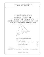 """skkn vận dụng  """"bài toán cơ bản""""  để tính khoảng cách trong một số bài toán hình học không gian"""