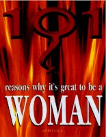 101 reasons why it's great to be a woman