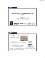 Basics of Supply Chain Management and SCOR