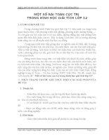 skkn một số bài toán cực trị trong hình học giải tích lớp 12 thpt trần phú