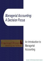 Managerial accounting a decision focus
