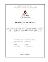 Hỗ trợ phát triển doanh nghiệp nhỏ và vừa của Nhật Bản và bài học cho Việt Nam