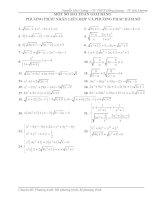 Phương trình, bất phương trình, hệ phương trình giải bằng phương pháp nhân liên hợp