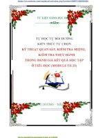 TỰ BỒI DƯỠNG  KIẾN THỨC TỰ CHỌN   KỸ THUẬT QUAN SÁT, KIỂM TRA MIỆNG, KIỂM TRA THỰC HÀNH TRONG ĐÁNH GIÁ KẾT QUẢ HỌC TẬP TIỂU HỌC MODULE  25