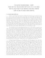 skkn vài kinh nghiệm đọc – hiểu một số tác phẩm thơ chữ hán của văn học trung đại việt nam trong chương trình  lớp 10 thpt