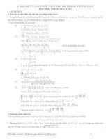 Phân loại bài tập hình học giải tích trong không gian theo bài sgk
