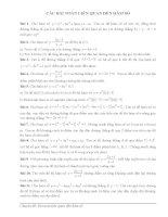 Tổng hợp các bài toán liên quan đến khảo sát hàm số trong các đề thi thử