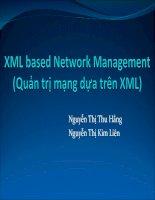 xml based network management quản trị mạng dựa trên xml