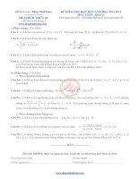 10 bộ đề thi học kỳ 2 ôn tập môn toán lớp 12 năm học 2014 2015