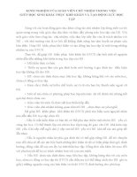 KINH NGHIỆM của GIÁO VIÊN CHỦ NHIỆM TRONG VIỆC GIÚP học SINH KHẮC PHỤC KHÓ KHĂN và tạo ĐỘNG lực học tập