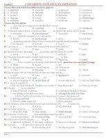 Đề thi thử tiếng Anh ĐH CĐ (có đáp án)