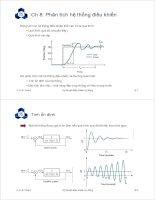 giáo trình kỹ thuật điều khiển tự động Chương 8: Phân tích hệ thống điều khiển