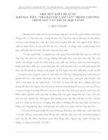 SKKN một số ý KIẾN đề XUẤT KHI dạy TIẾT TRẢ bài TẬPLÀM văn TRONG CHƯƠNG TRÌNH NGỮ văn TRUNG học cơ sở