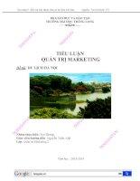 [tiểu luận] quản trị marketing du lịch hà nội