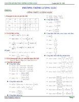 tuyển tập phương pháp giải phương trình lượng giác